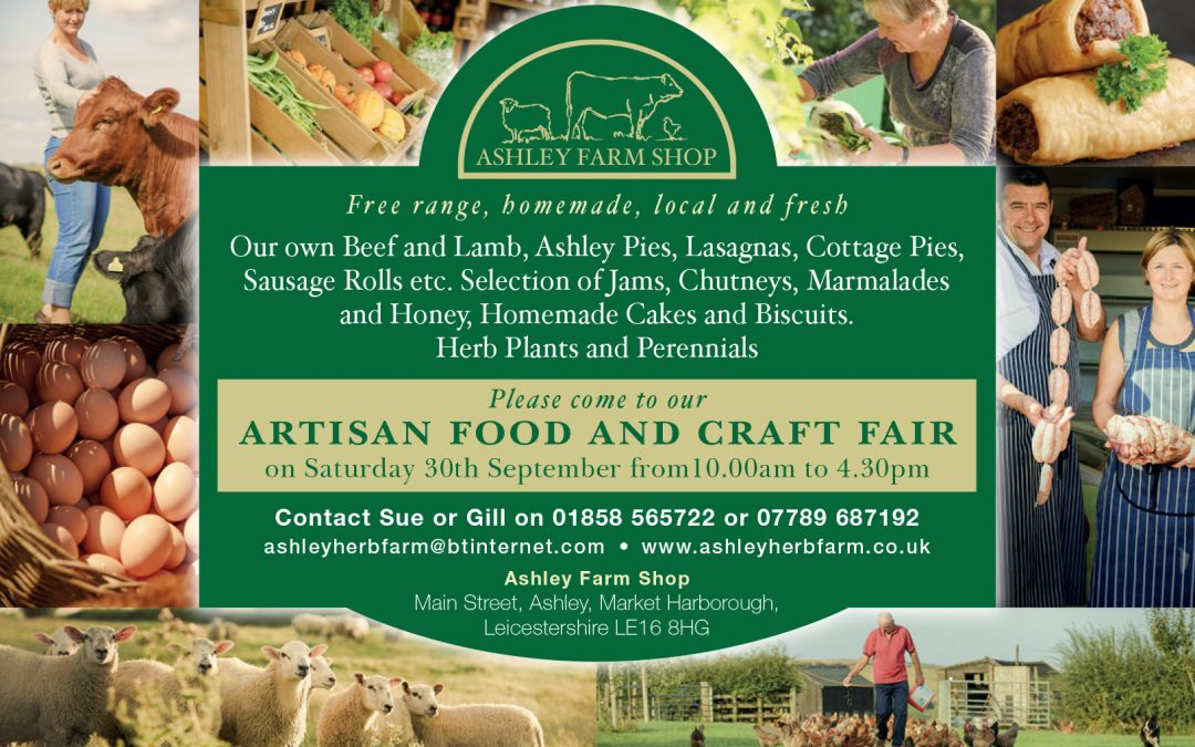 Artisan Food & Craft Fair Saturday 30th September 2017